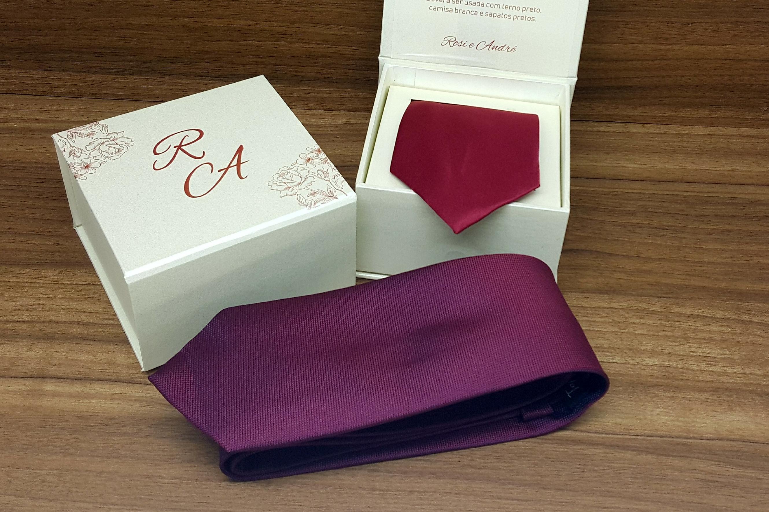 caixa gravata padrinhos